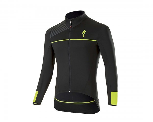 Specialized Element SL Elite WR Long Sleeve-Trikot | black-neon yellow