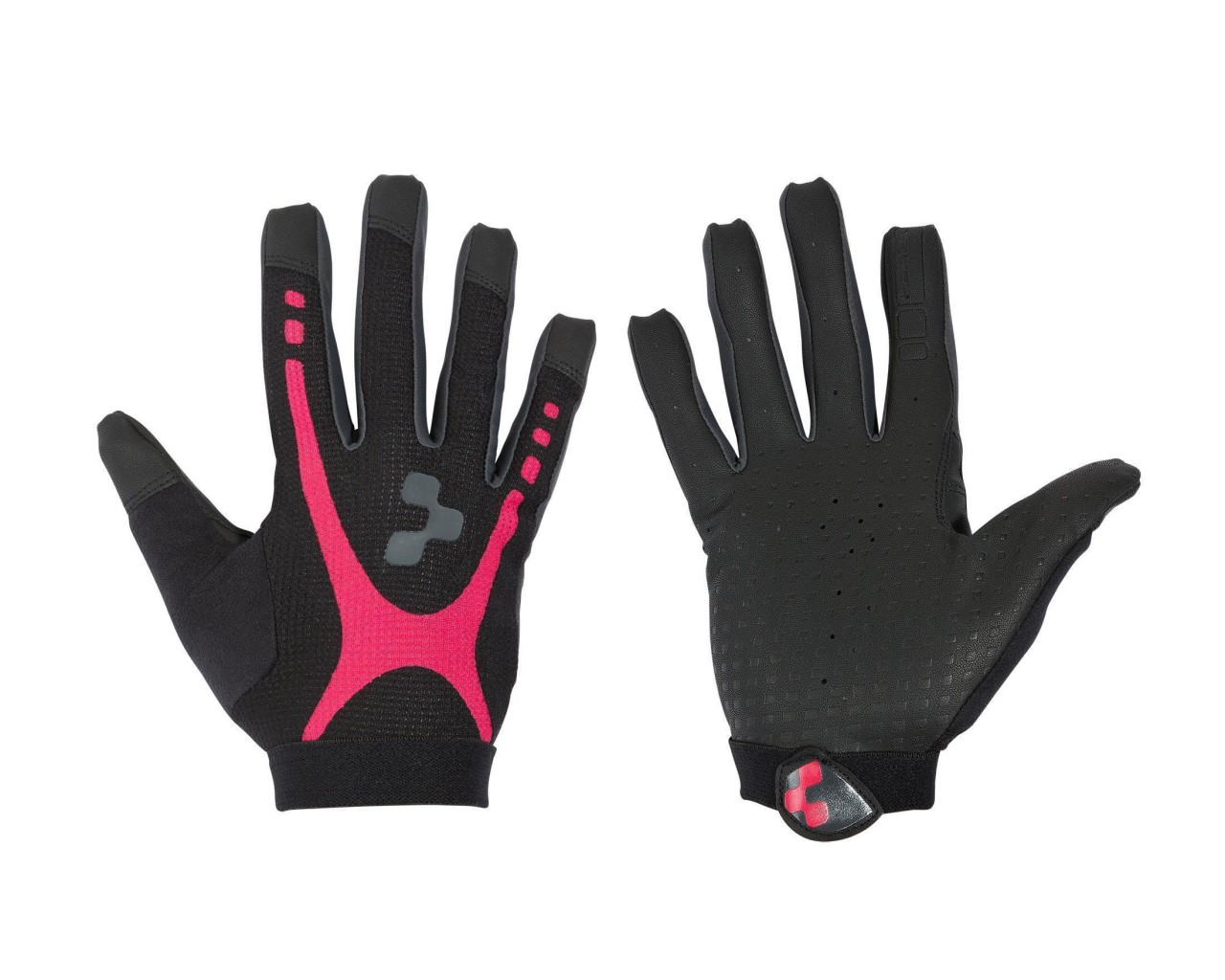 Cube Gloves WLS RACE TOUCH Woman long finger   black n raspberry n anthracite