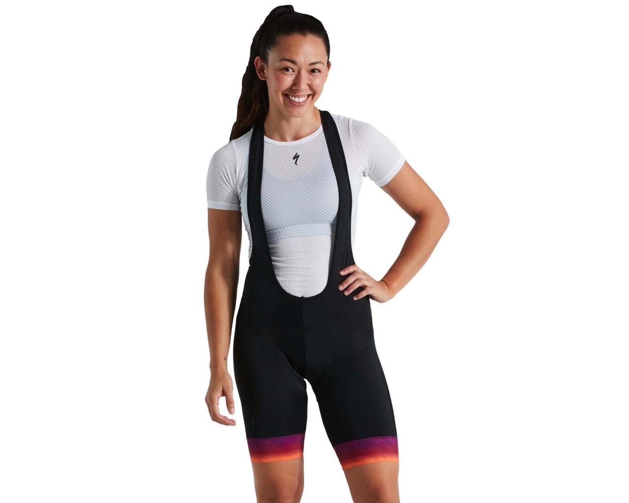 Specialized RBX Comp Damen Bib-Shorts | orange sunset-violet