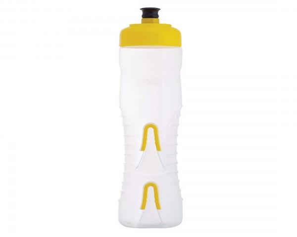 Fabric Wasserflasche mit integriertem Halter 750 ml | clear-yellow