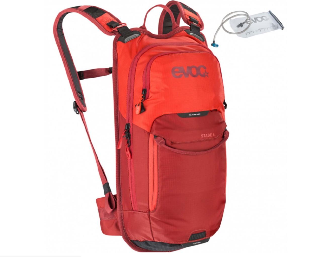 Evoc Stage 6 Liter Fahrradrucksack + 2 Liter Bladder | orange-chili red