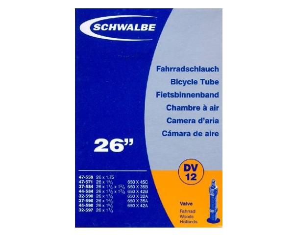 "Schwalbe 26"" Schlauch DV12 | 26x1 1/8-1.75"" 32/47-559/597 | 40 mm Fahrradventil"