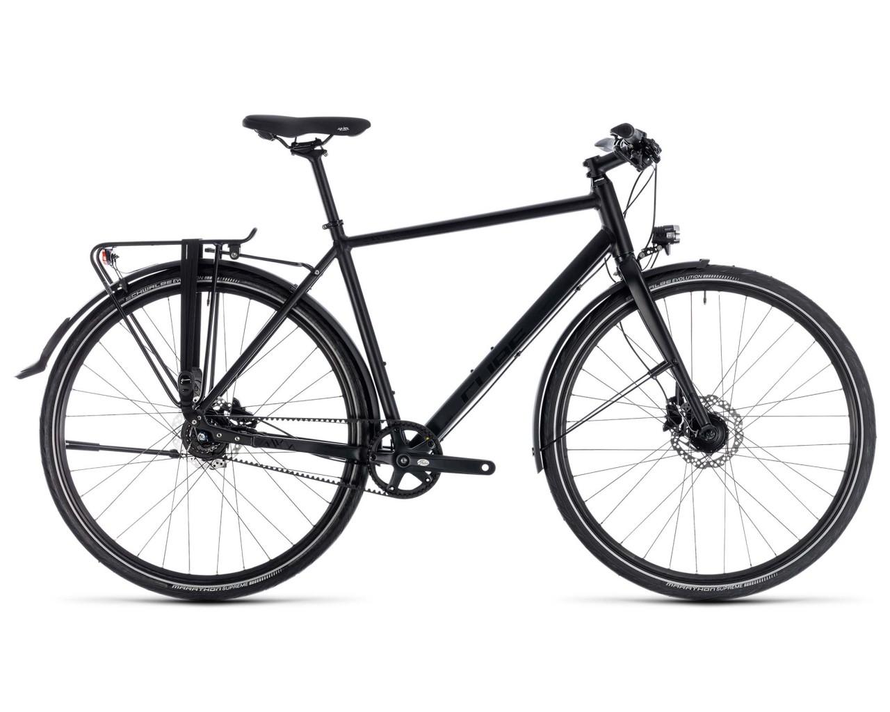 cube travel sl trekking fahrrad 2018 black n black. Black Bedroom Furniture Sets. Home Design Ideas