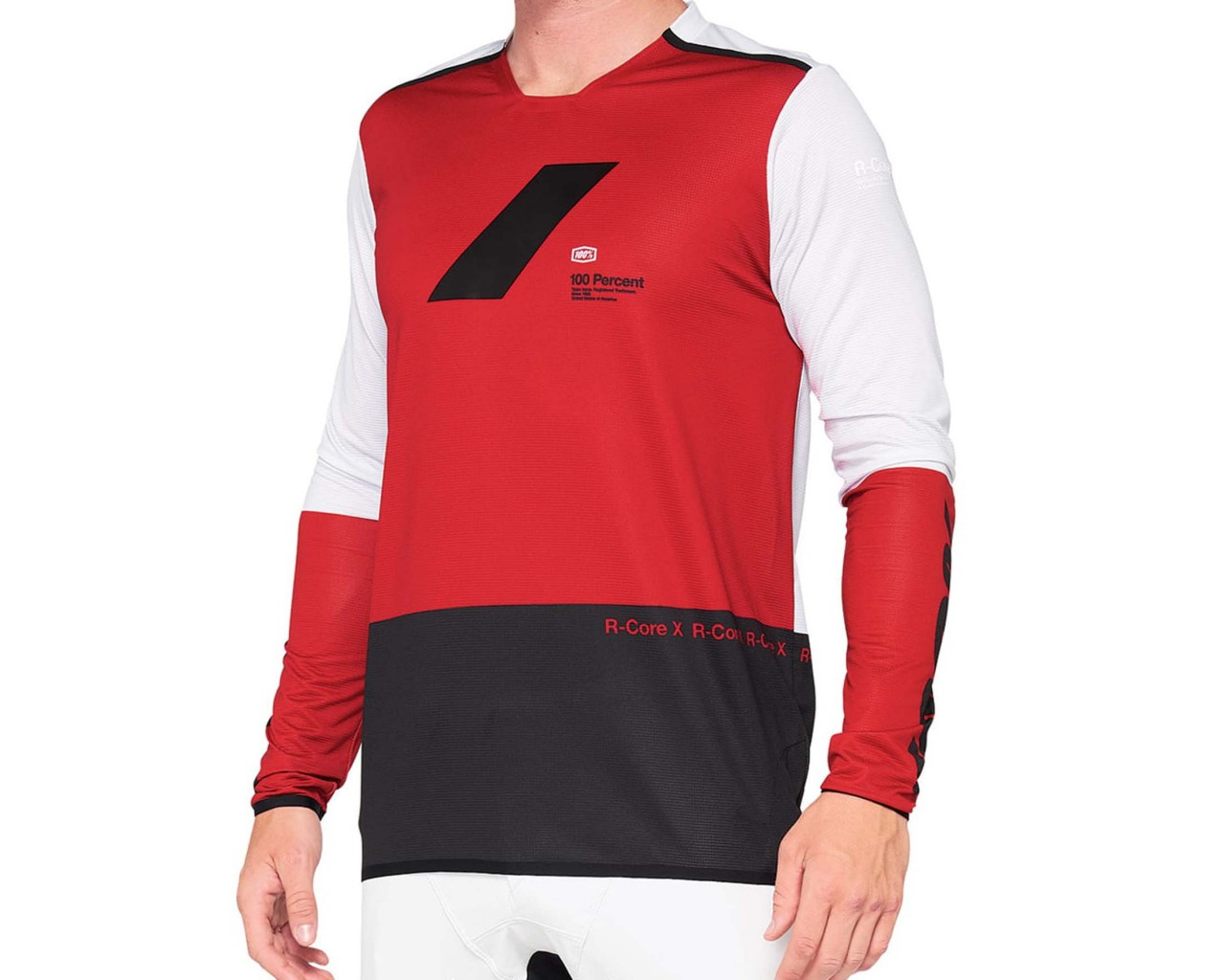 100% R-Core X Downhill Jersey long sleeve   cherry-black