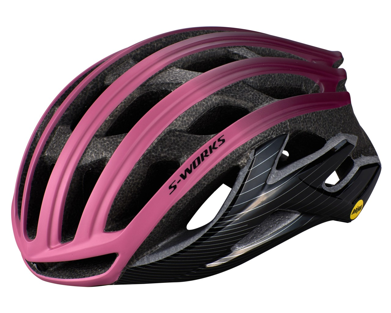 Specialized S-Works Prevail II Road Bike Helmet ANGi ready & MIPS | cast berry-dusty lilac