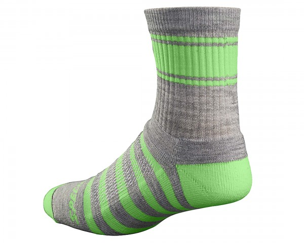 Specialized Mountain Tall Sock | light grey-monster green