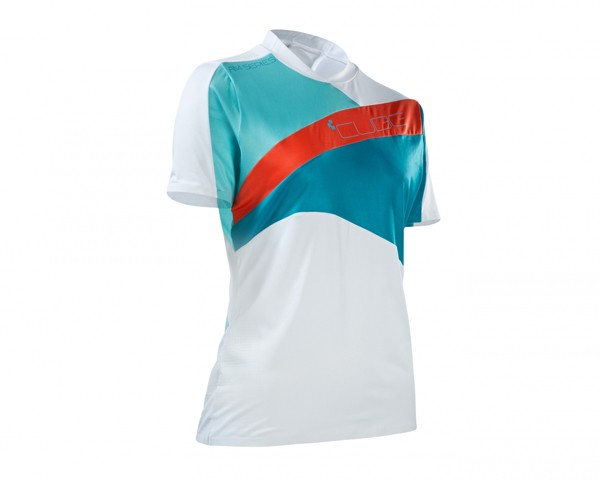 Cube AM WLS Roundneck Jersey short sleeve | white/blue