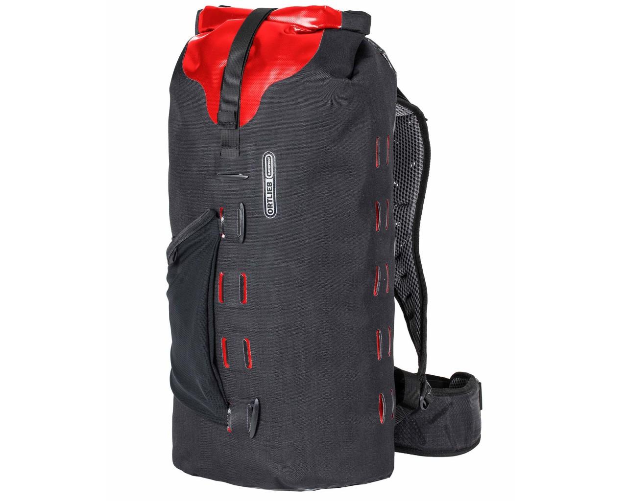 Ortlieb Gear-Pack 25 liter waterproof dry bag/backpack | black-red