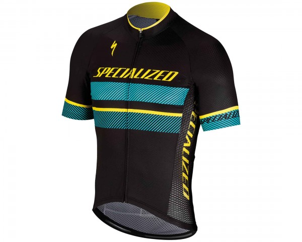 Specialized RBX Comp Logo Kurzarm-Trikot | black-dark teal-yellow
