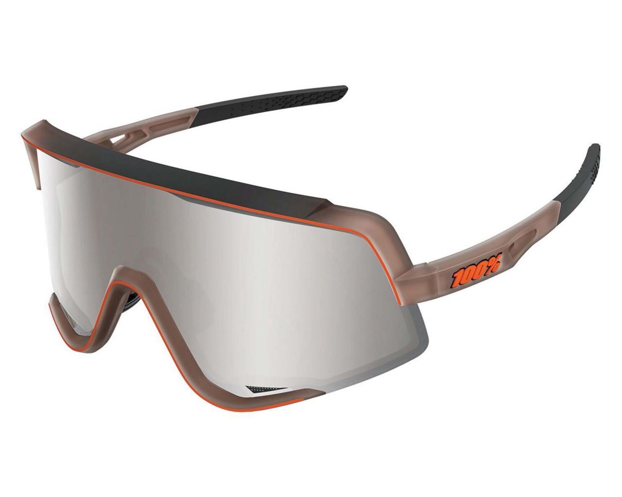 100% Glendale - Hiper Multilayer Mirror Lens Sportbrille | matte translucent brown fade