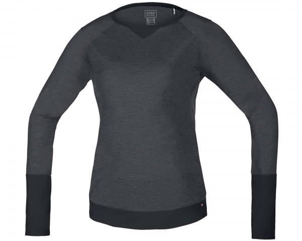 Gore Bike Wear POWER TRAIL LADY Jersey lang Off-Road Ambitious - Passform Comfort   raven brown-blac