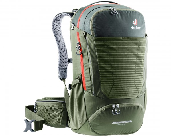 Deuter Trans Alpine Pro 28 litre Bike Backpack   ivy-khaki