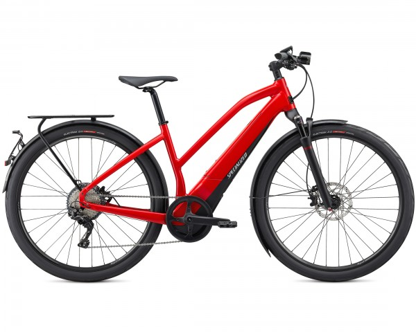 Specialized Vado 6.0 45 km/h Step Through - Elektro Trekking Bike 2020 | flo red w-blue ghost pearl