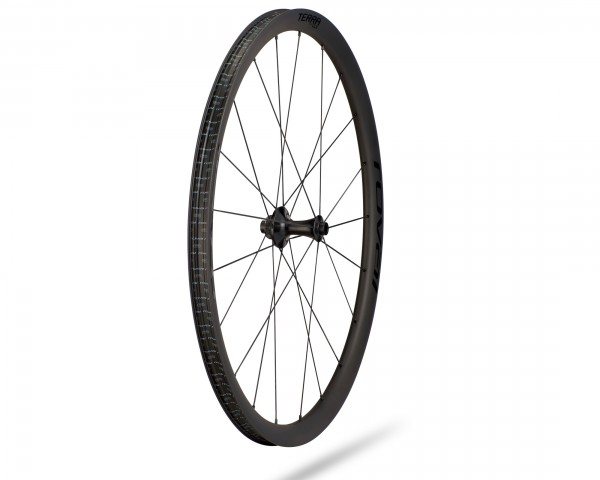Specialized Terra CLX Laufrad 700c Front | satin carbon-gloss black